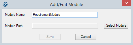 On the u0027Modules Manageru0027 dialog click on the Add button. The u0027Add/Edit Moduleu0027 dialog displays.  sc 1 st  Sparx Systems & Create a Link to a DOORS Module | Enterprise Architect User Guide