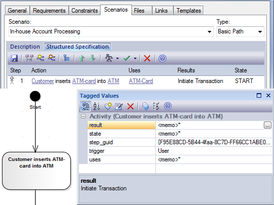 how to create an activity diagram in enterprise architect