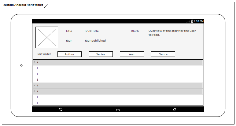 Android Wireframe Toolbox | Enterprise Architect User Guide