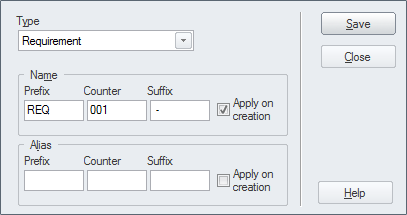 Auto Names and Counters | Enterprise Architect User Guide