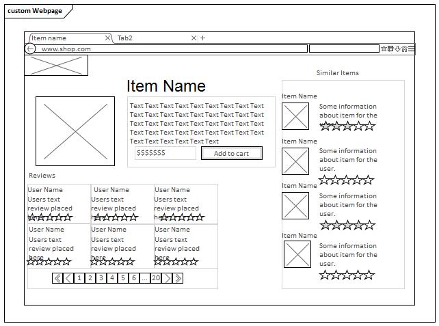 Webpage Wireframe Toolbox