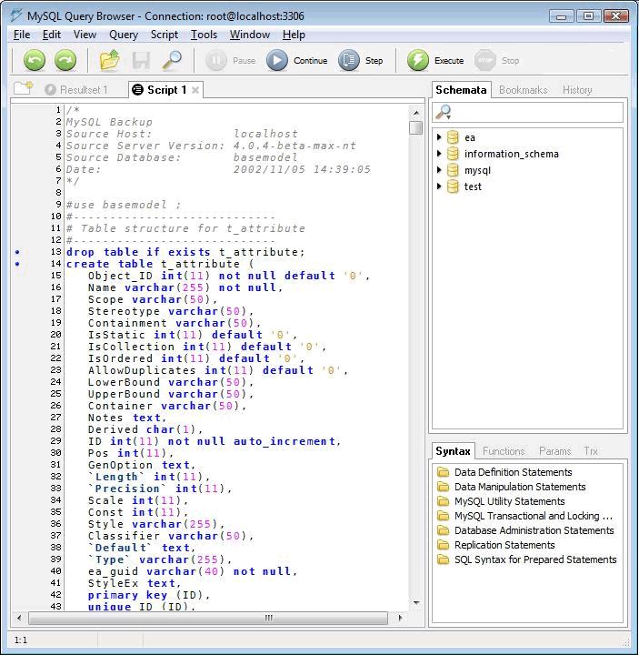 Mysql repository ea user guide - Mysql create table example ...
