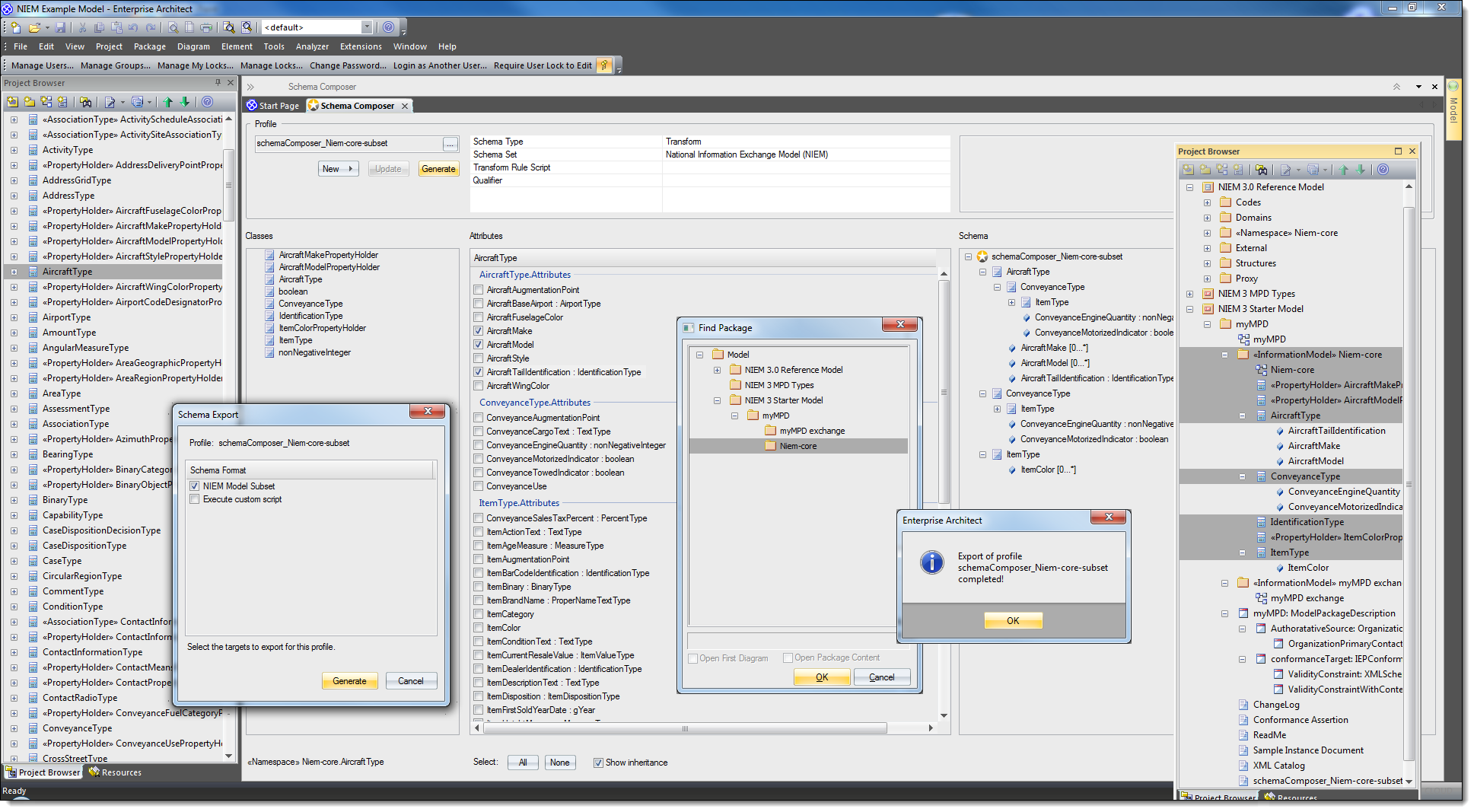 NIEM 3.1 Transform within Schema Composer