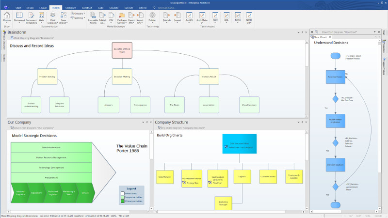 Record ideas, manage workflows and review org charts - Enterprise Architect