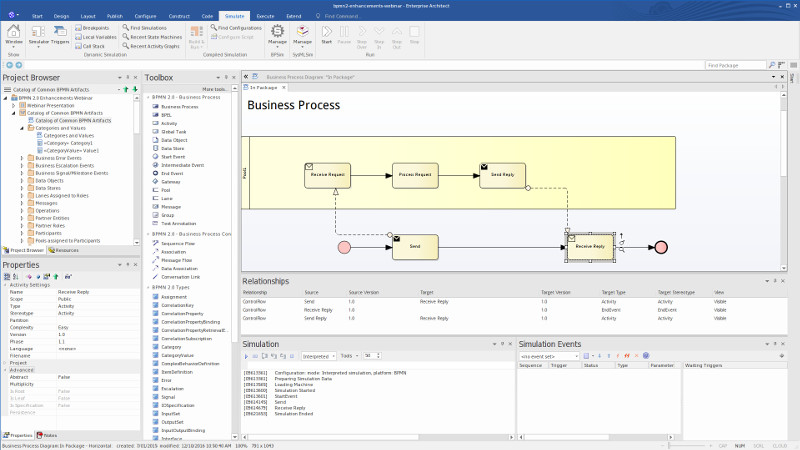 Simulate and evaluate business processes - Enterprise Architect