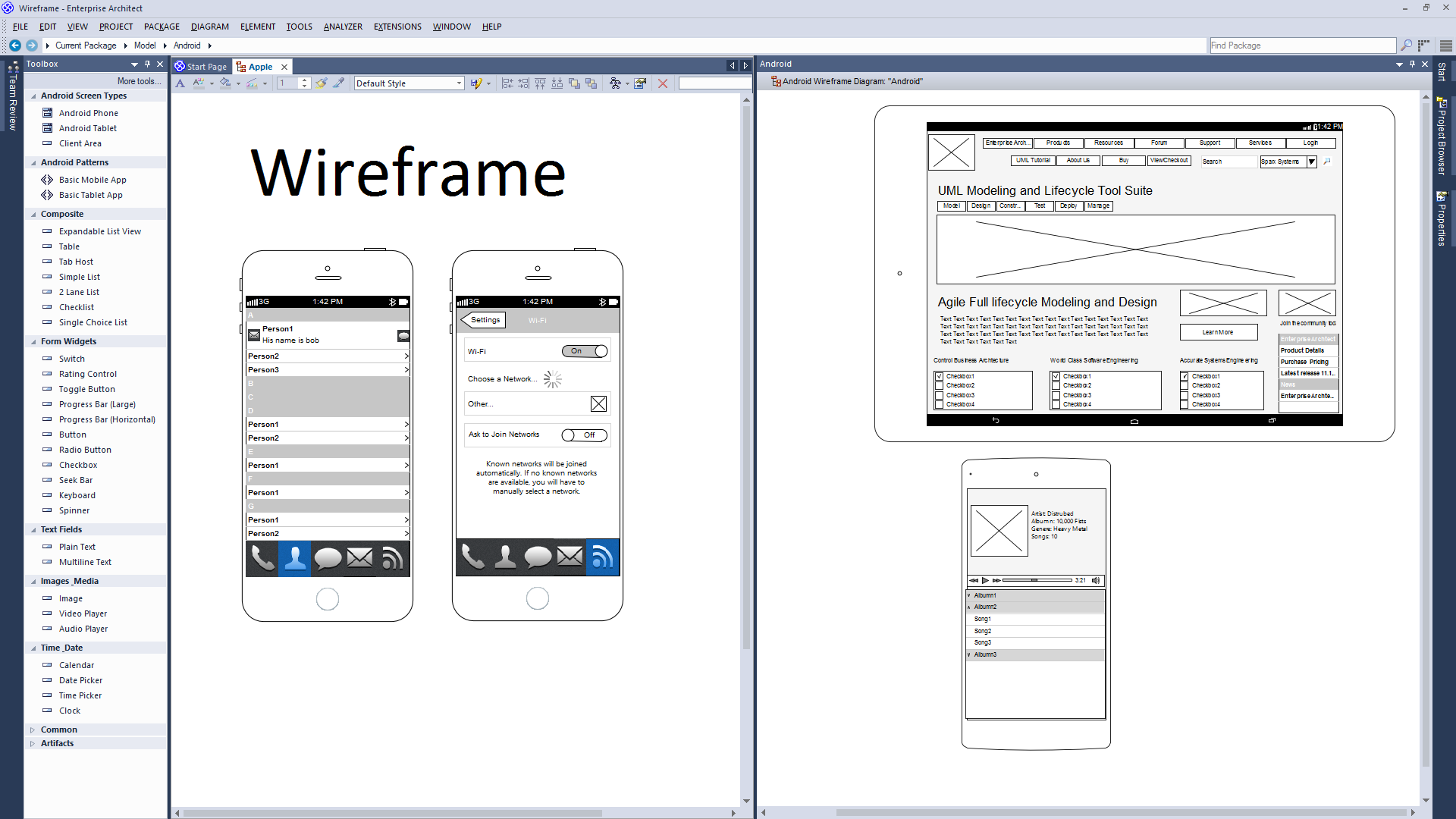 Support for Wireframes