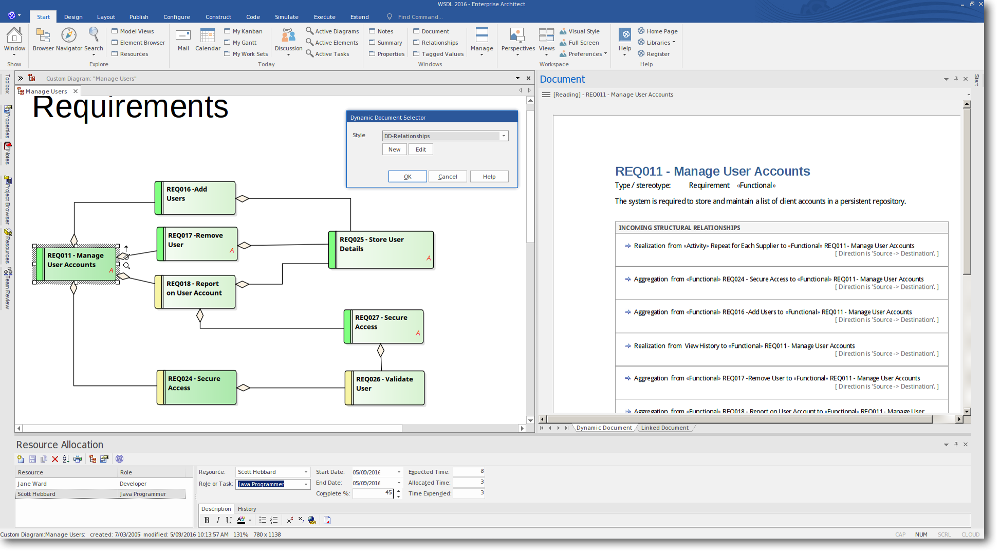 Enterprise Architect 13: Dynamic Documents