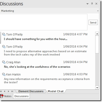 Enterprise Architect 13: Model Chat
