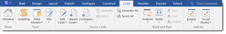 Enterprise Architect 13: Ribbon Interface - Code