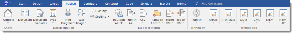 Enterprise Architect 13: Ribbon Interface - Publish