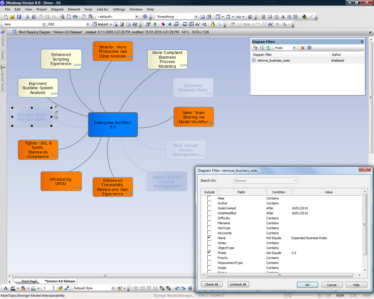 Enterprise Architect 8 - Products - Sparx Systems