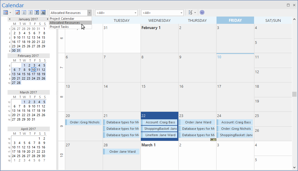 Enterprise Architect Corporate Edition: Calendar