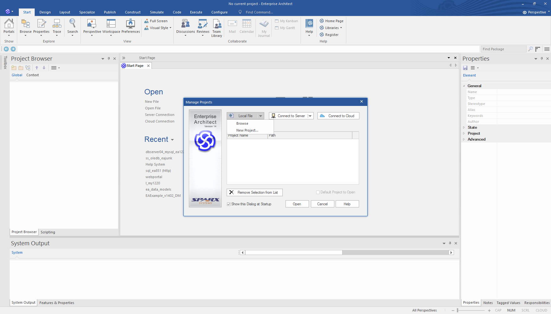 Enterprise Architect Professional Edition: Quick Start file based repository