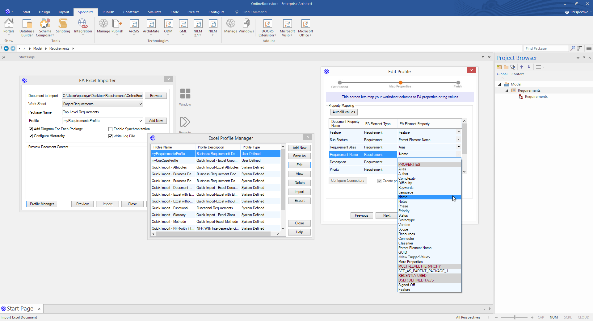Enterprise Architect Ultimate Edition: MS Office Integration