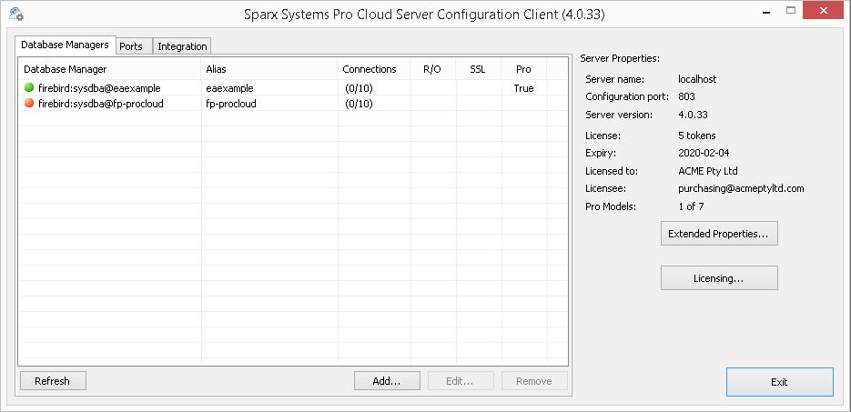 Pro Cloud Server version 4 | Sparx Systems
