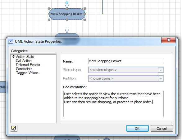 Moving visio diagrams into enterprise architect figure 2 the description of the action is not displayed on the diagram it can only be accessed by opening the properties dialog ccuart Gallery