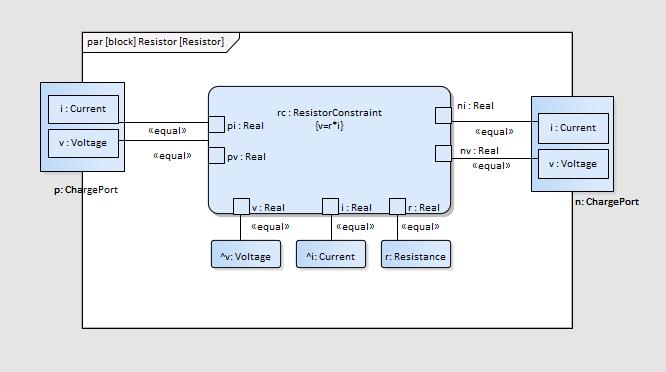 SysML Parametric Diagram - Electrical Circuit   Enterprise Architect  Diagrams Gallery   Sparx Wiring Diagram      Sparx Systems