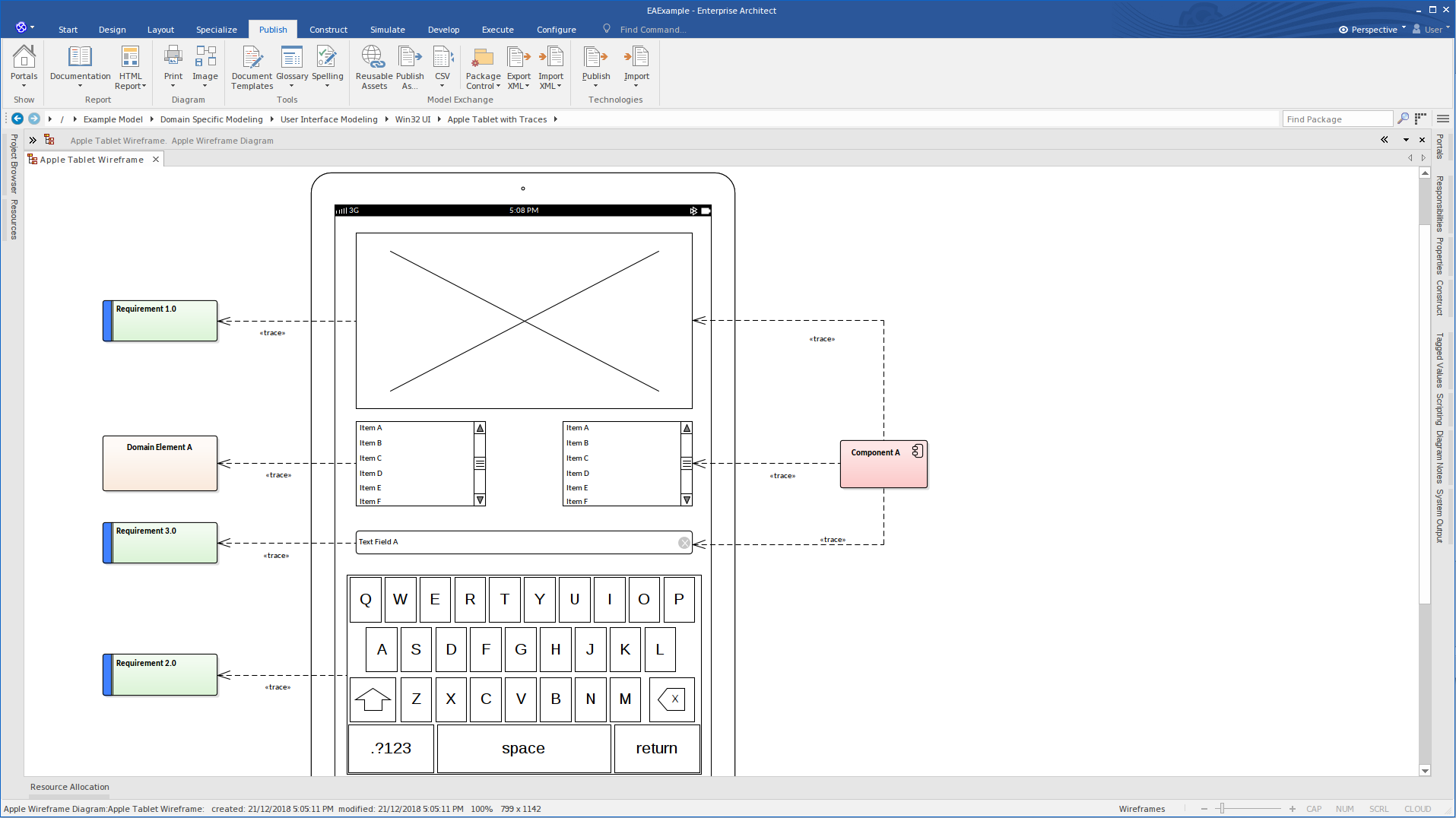 wireframe ipad with requirements enterprise architect diagrams  wire frame diagrams #12