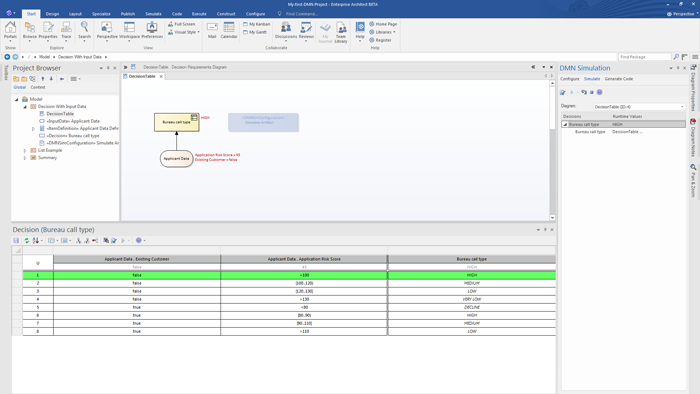Decision Model and Notation in Enterprise Architect 14